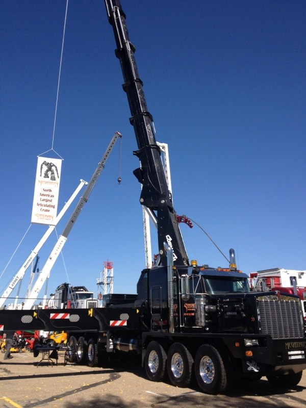 Largets Knuckle Boom Crane In Alberta So Far
